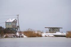 Construction côtière sujette aux inondations de maison photo stock
