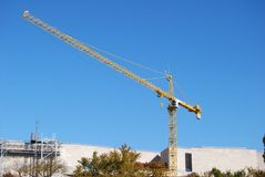 Construction Cable Lift , Crane. Construction Cable Lift , a Crane royalty free stock images
