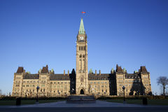 Construction canadienne du Parlement Photo stock