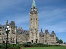 Construction canadienne du Parlement Images stock