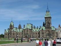 Construction canadienne du Parlement Photos stock
