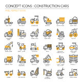 Construction Cars , Pixel Perfect Icons Stock Images