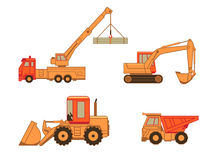 Construction cars | Set 1 Royalty Free Stock Photography