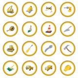 Construction cartoon icon circle Royalty Free Stock Image
