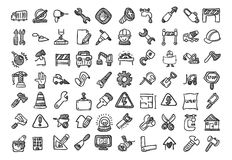 Construction cartoon icon set Stock Images
