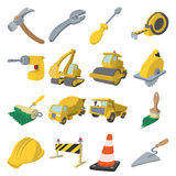 Construction cartoon icons Stock Photos