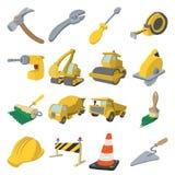Construction cartoon icons Stock Photos