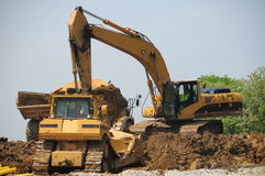 Construction Caterpillar Equipment Stock Image