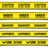 Construction Caution Tapes Stock Images