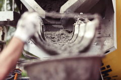 Construction, cement production stock photography