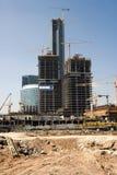 Construction of a centre Stock Photos