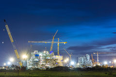 Construction of chemical plant industry Royalty Free Stock Images