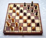 Construction of chess pieces on diagonal Stock Photos