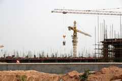 Construction in China Stock Image