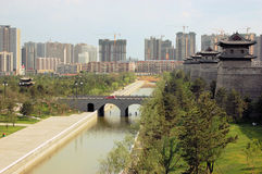 Construction in China. Construction work of new buildings in China Stock Image