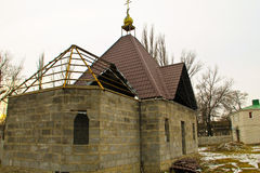 Construction of the church. Construction of the new church Stock Image