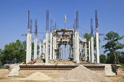 Construction of churches. Stock Photography