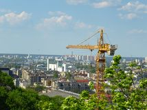 Kiev. Ukraine. Construction in the city of Kiev. Ukraine royalty free stock image