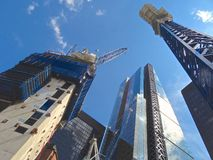Construction in the City of London. Landscape image Royalty Free Stock Photo