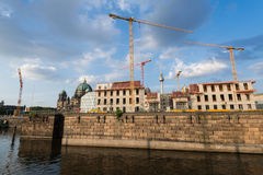 Construction of the City Palace, Berlin Stock Photo