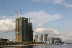 In the construction of city for SHENZHEN,CHINA,ASIA Stock Image