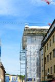 Construction in the city work is ongoing royalty free stock photography