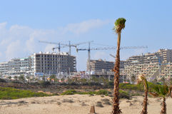 Construction Closing In On The Beach Stock Photography