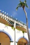 Construction colorée avec le palmier Photo libre de droits