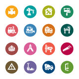 Construction Color Icons Royalty Free Stock Photo