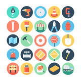 Construction Colored Vector Icons 1 Royalty Free Stock Image