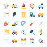 Construction Colored Vector Icons 5 Royalty Free Stock Images