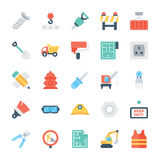 Construction Colored Vector Icons 3 Stock Photo