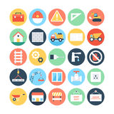 Construction Colored Vector Icons 2 Stock Images