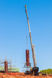 Construction Columns Mould Crane Royalty Free Stock Images