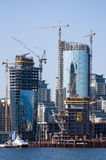 Construction of commercial buildings in Baku, Azerbaijan, July 27, 2015 royalty free stock photo