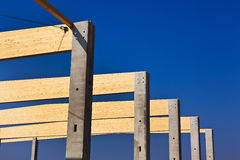 Construction, commercial and production hall Royalty Free Stock Images