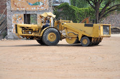 Construction compactor stock photography