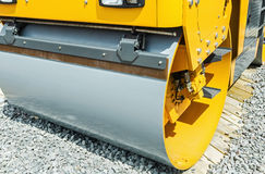 Construction compactor in the operation Royalty Free Stock Photos