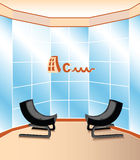 Construction company. Vector design of the office of the construction company Stock Images