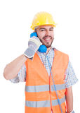 Construction company contact person Royalty Free Stock Images