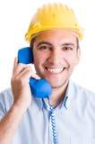 Construction company contact us concept Royalty Free Stock Photos