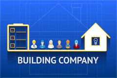 Construction company emblem Stock Image