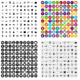 100 construction company icons set vector variant. 100 construction company icons set vector in 4 variant for any web design isolated on white Stock Photography