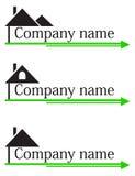 Construction company logo Stock Photo