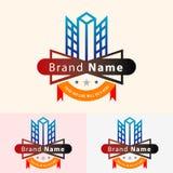Construction company logo design royalty free illustration