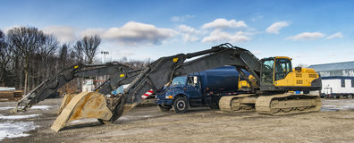 Construction company yard Stock Image
