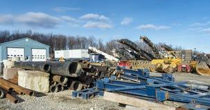 Construction company yard Royalty Free Stock Image