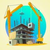 Construction concept cartoon Stock Images