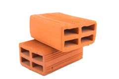 Construction concept clay bricks Royalty Free Stock Photography