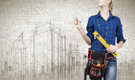 Construction concept Stock Photography